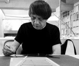 安藤忠雄のスケッチを描く画像