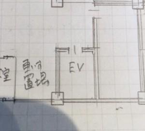 コアの手書き図面の画像