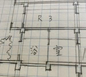 断面の手書き製図画像